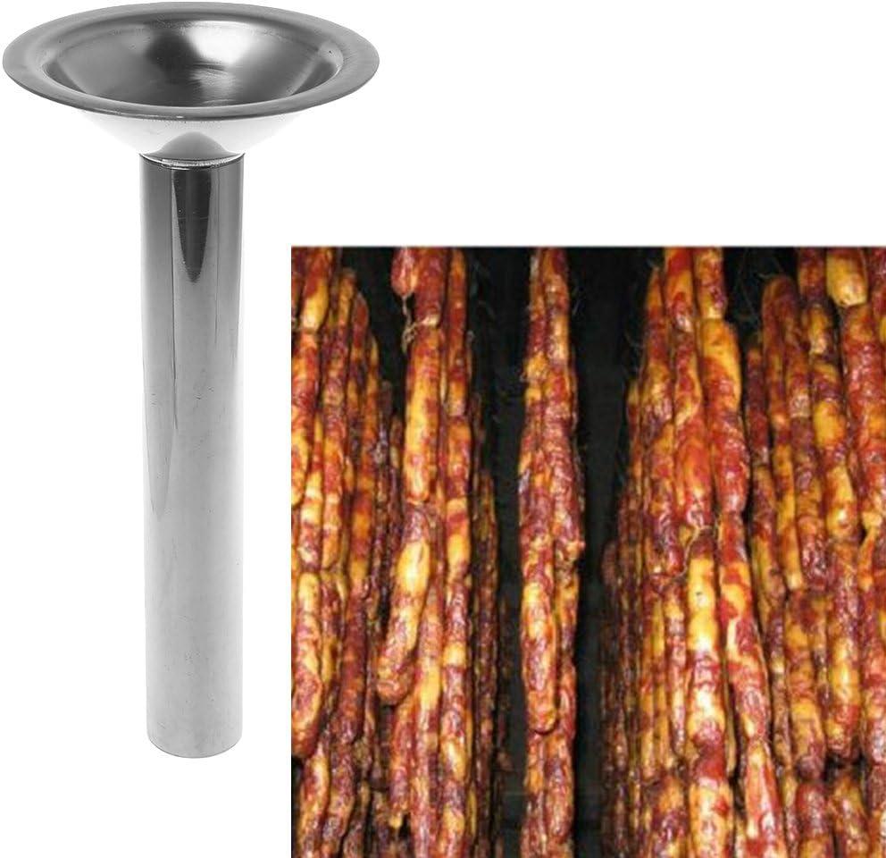 PENG Acero Inoxidable # 10 Tama/ño Picadora de Carne Salchicha Embutidora Tubo Cuerno Embudo Relleno