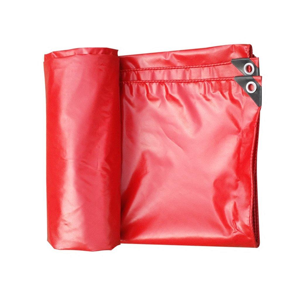 BÂche imperméable rembourrée BÂche imperméable à l'eau rouge, auvent extérieur épais, isolation en toile imperméable à l'eau super imperméable à l'eau de parasol de toile de