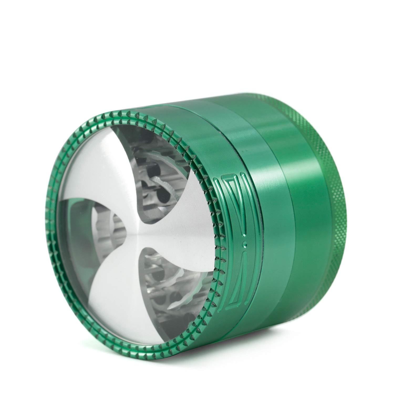 Yzyamz Herb Grinder Aluminum Alloy Fan Grinder Portable Manual Grinder Bench Grinder, 2.5'' (63Mm) (Color : Green) by Yzyamz