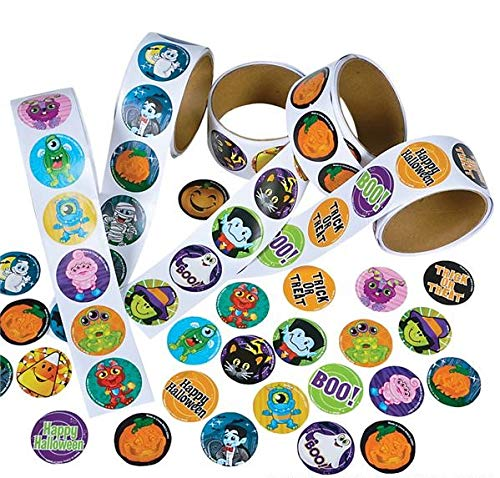 Rhode Island Novelty Assorted Halloween Stickers, Pack of 500 - Novelty Halloween