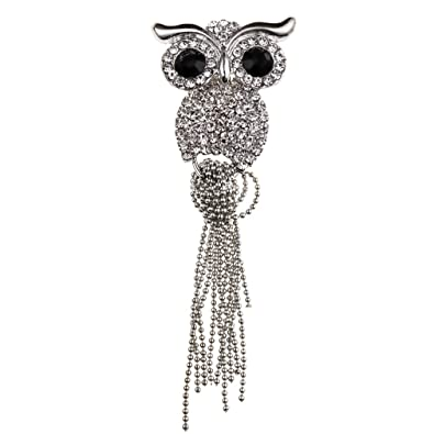 1560d4ca4 Image Unavailable. Image not available for. Color: YAZILIND Vintage Owl  Shape Alloy Pin Brooches Rhinestone Jewelry Gift for Women Girls