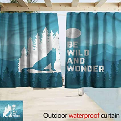 Amazon com : MaryMunger Custom Curtain Adventure Be Wild and Wonder
