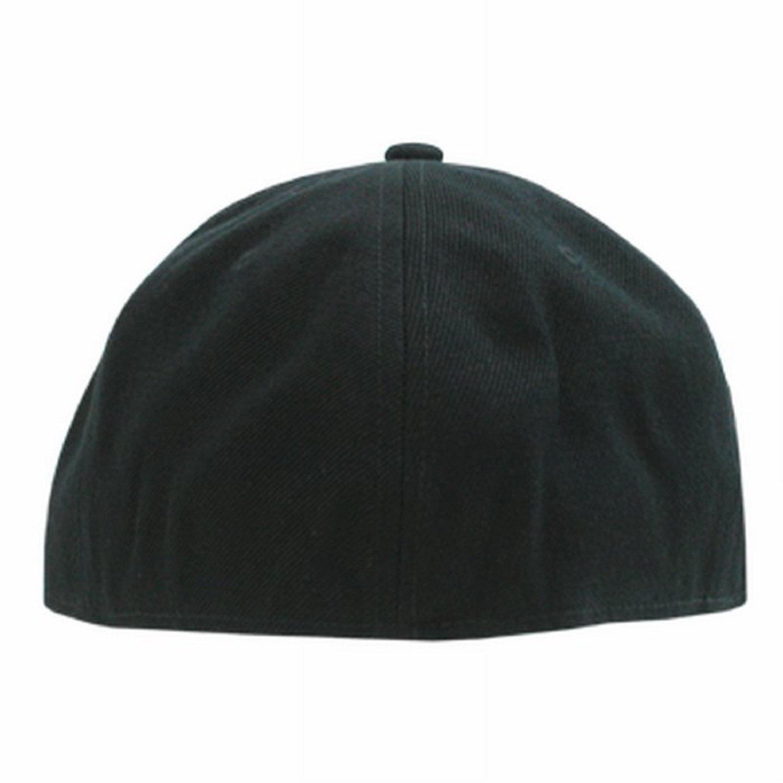 4adbdfe11a7 Decky Orgianl Black Retro Fitted Baseball Caps - 7-5 8 - at Amazon Men s  Clothing store  Novelty Baseball Caps