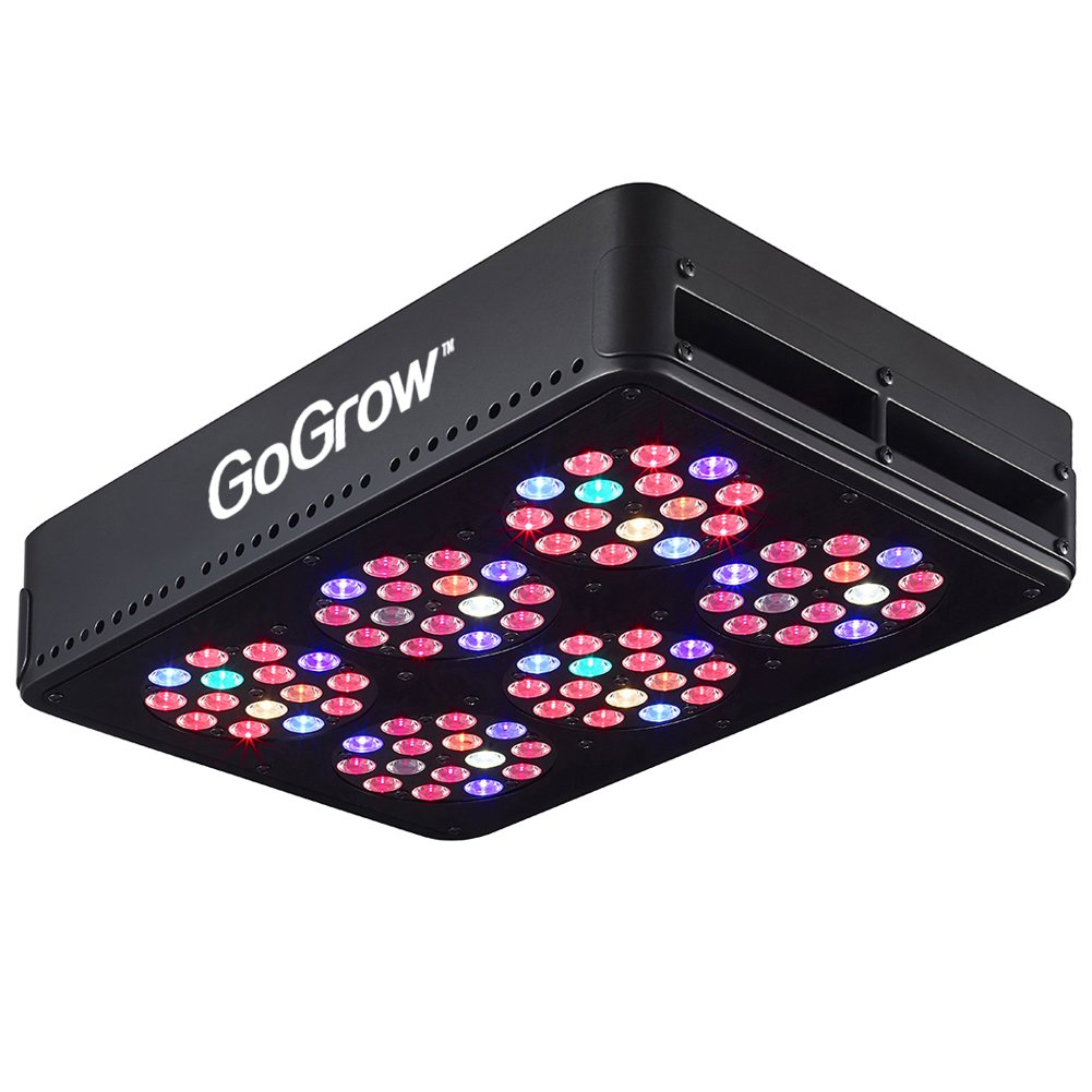 GoGrow V1 Master Grower LED Grow Lights 12 Bands Full Spectrum with UV and IR, CMH 315W Replacement