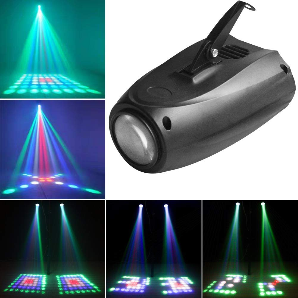 64 LED Pattern Stage Lights U`King RGMW Moonflower Light by Sound Activated Auto Projector for DJ Lighting Wedding Party Dance Club Music Show