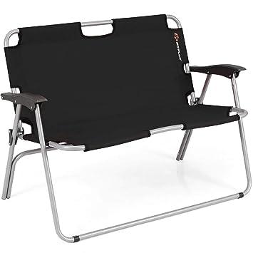 Amazon.com: Banco plegable de 2 asientos para acampada ...