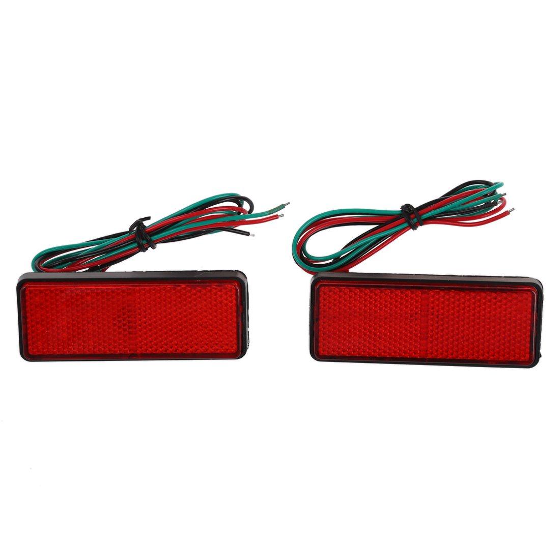 LED Ruecklicht Reflektoren - SODIAL(R)2 x LED Roter Reflektor Endstueck Bremslicht Markierung Licht LKW Anhaenger ATV RV Motor SUV 058933