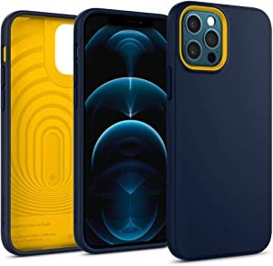 Caseology Nano Pop Silicone Case Compatible with iPhone 12 Pro Case Compatible with iPhone 12 Case (2020) - Blueberry Navy