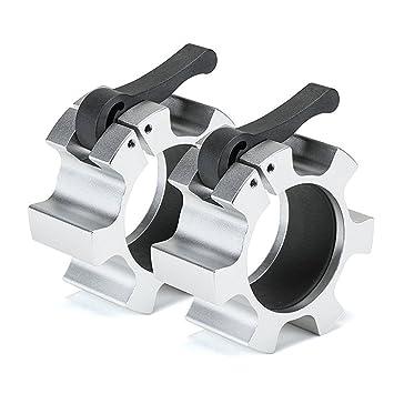 grofitness olímpico barra collar cierres Quick Release levantamiento de pesas estándar de 2 pulgadas Lock Jaw