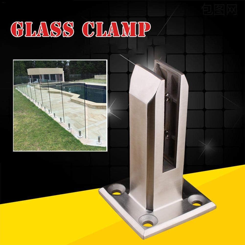 Edelstahl Glasklemme//Glas Clip//Glas Halterung f/ür Glas bodentr/äger Feste f/ür Gel/änder Verglasungen Handl/äufe
