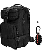 ZTHY 30L Military Tactical 3 Day Assault Backpack + Survival Kit, Hiking Bag Extreme Rucksack Molle Bug Out Bag Pack for Traveling Camping Hunting Outdoor Sports Trekking & Hiking