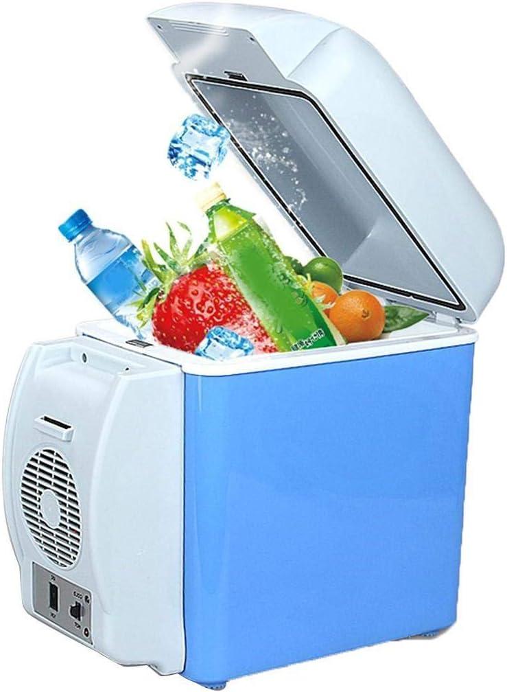 Gonikm 7.5L Mini Car Refrigerator Low Noise Cooling Heating Portable Dual-Use Fridge Beverage Refrigerators