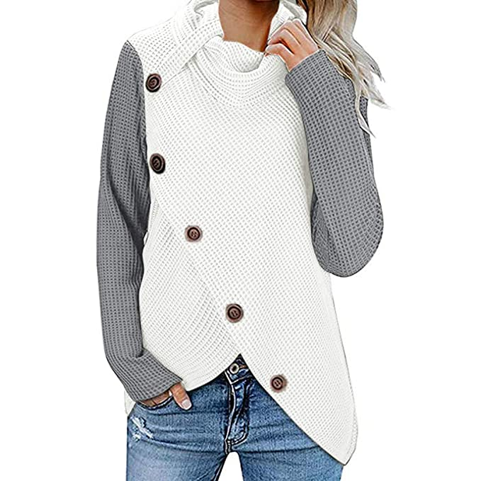 FT Women Fluffy Sweater Jumper Ladies Casual Long Sleeve Pullover Tops Blouse G