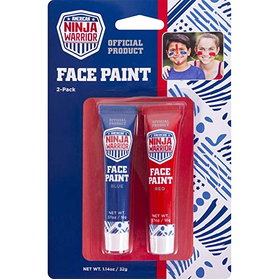 American Ninja Warrior Face Paint Red/Blue