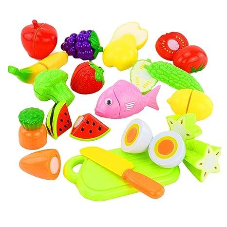 NUOBESTY - Juego de 16 Piezas para Cortar Frutas y Verduras ...