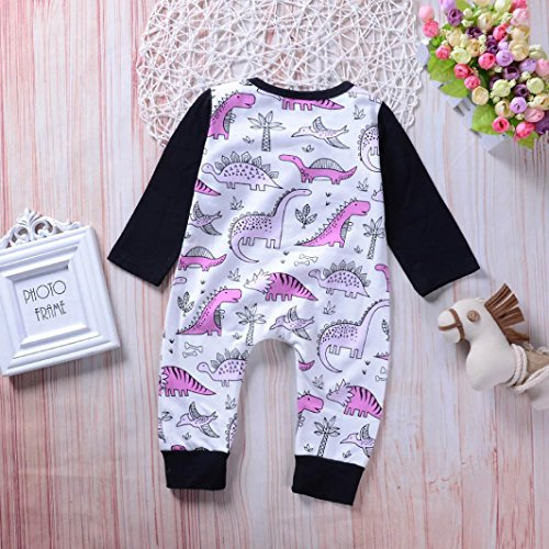 Fineser TM Infant Baby Boys Girls Cartoon Dinosaur Print Cotton Romper Jumpsuit Outfit Kids Lovely Playsuit