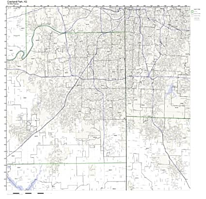 Amazon.com: Overland Park, KS ZIP Code Map Laminated: Home & Kitchen
