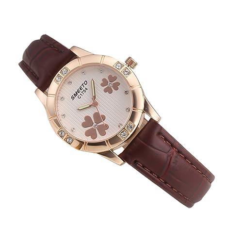 Pengyu Reloj de pulsera analógico de cuarzo para mujer con incrustaciones  de diamantes de imitación de 18ed95f76751
