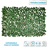 Patio Paradise 15'' x 48'' Faux Ivy Privacy Fence Screen with Expand Retractable Panel-Artificial Leaf Vine Hedge Outdoor Decor-Garden Backyard Decoration Panels Fence Cover