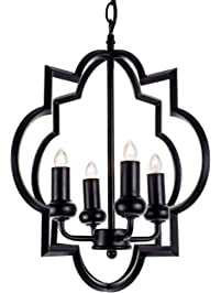 Chandeliers amazon lighting ceiling fans ceiling lights riomasee lantern pendant light industrial chandelier fixture lighting with 4 lights for bar island aloadofball Images
