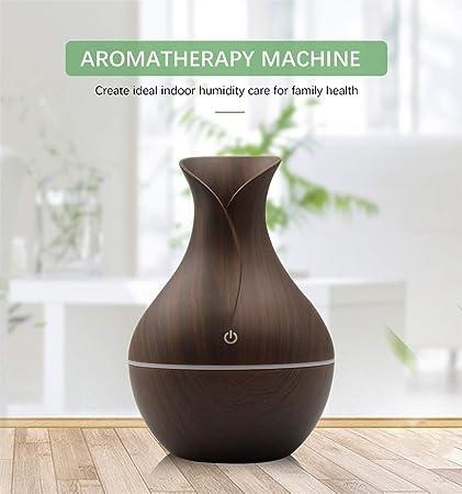 USB Wood Grain Ultrasonic Aromatherapy Humidifier Essential Oil Aroma Diffuser