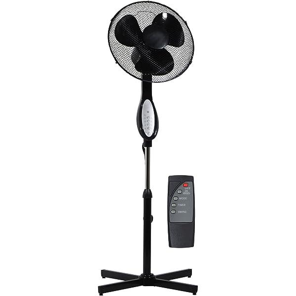 Prem-I-Air 16 Pedestal Fan Oscillating 3 Speeds White Remote Control