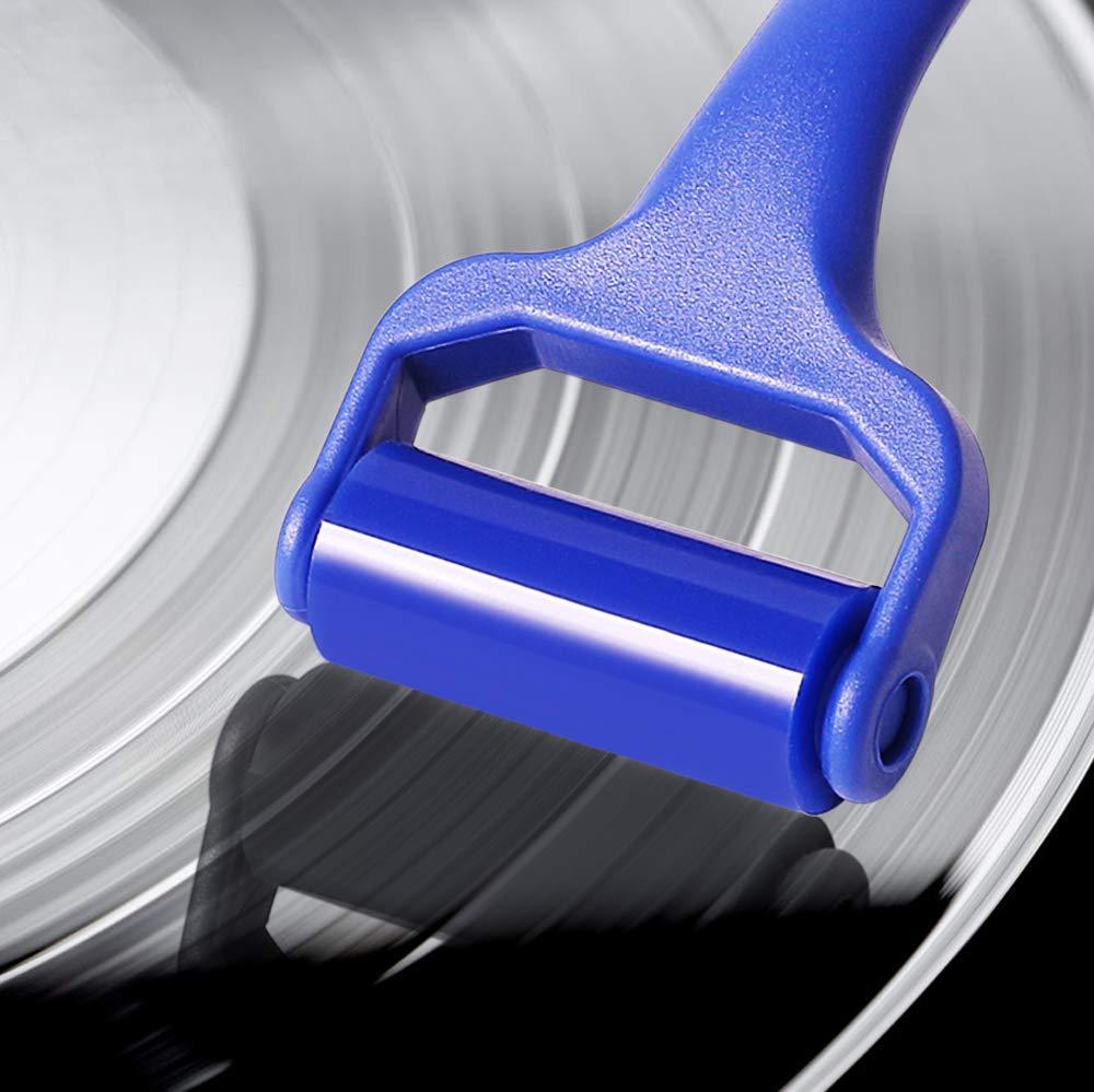 Record Cleaner - Anti-Static Viscous Silicone Cleaning Roller, Vinyl Record Cleaner Reusable Record Cleaner, Anti-Static & Will NOT Damage Your Records Rejuvenate & Keep Your Vinyl Sounding