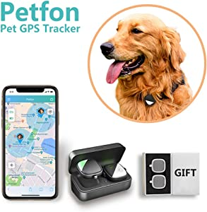 Dog GPS Tracker, No Monthly Fee, Real-Time Tracking Collar Device, APP Control for Pets (Dog Only) Activity Monitor with Gift