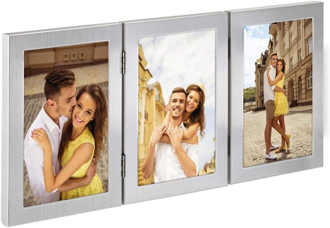 /Game Of Frames Metal Photo Frame Laval/ 10/x 15/cm triple frame 10/x 15/cm and 13/x 18/cm Triple Frame Formato: 2 fotos de 13 x 18 cm silver double frame Double Frame 13/x 18/cm