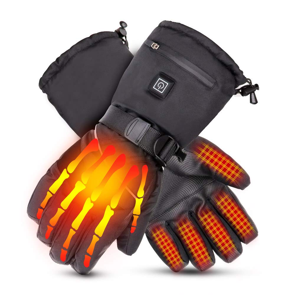 Loiion Electric Heated Gloves for Men Women, Winter Thermal Gloves, 7.4V Rechargeable Battery Motorcycle Heated Gloves Hand Warmers for Arthritis Hands, Outdoor Skiing Hiking Cycling Hunting by Loiion