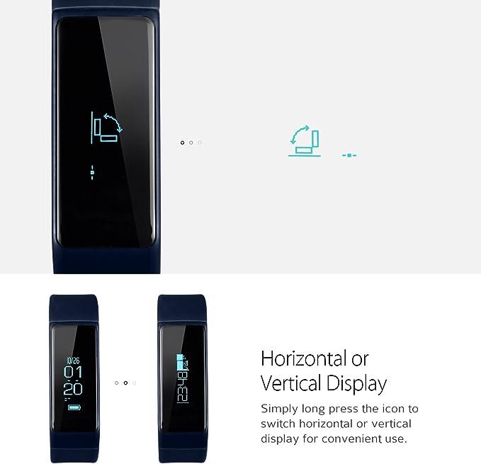 omorc pulsera conectable reloj deportivo inteligente bluetooth 4.0 podómetro salud Smart Band, color azul: Amazon.es: Electrónica