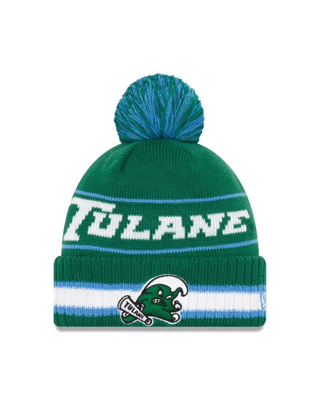 ... spain amazon new era tulane green wave college vintage select knit pom  beanie green one size 59e0604e4ffe