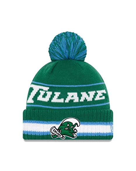 sports shoes cb7e7 0fab3 ... cheap new era tulane green wave college vintage select knit pom beanie  green one size 87812