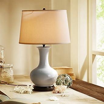 William 337 American Country Kupfer Keramik Tischlampe Schlafzimmer