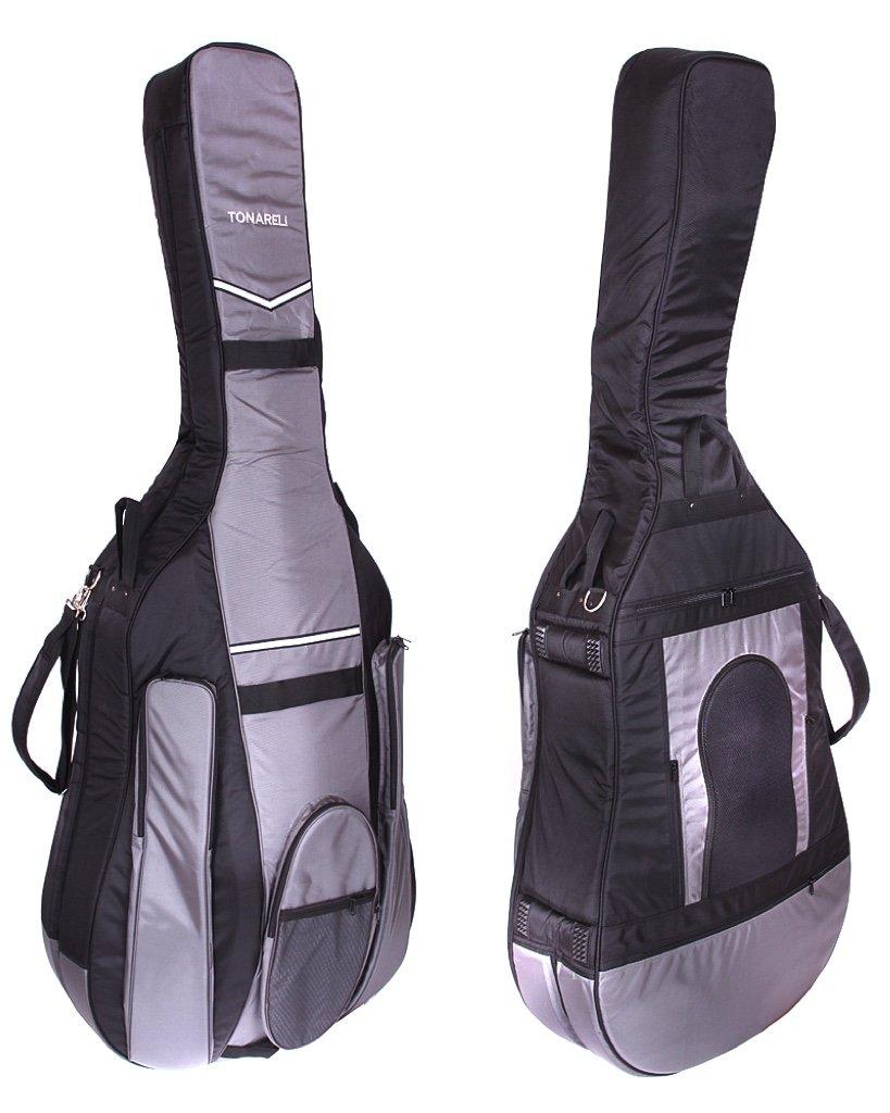 Tonareli Designer Bass Gig Bag BLACK/GREY 3/4 size BGB34BG