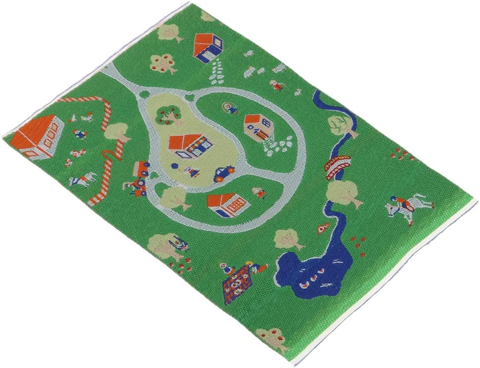 1//12 Scale Yard Figrues Carpet Area Rug for Dolls House Kid Bedrooms Decor