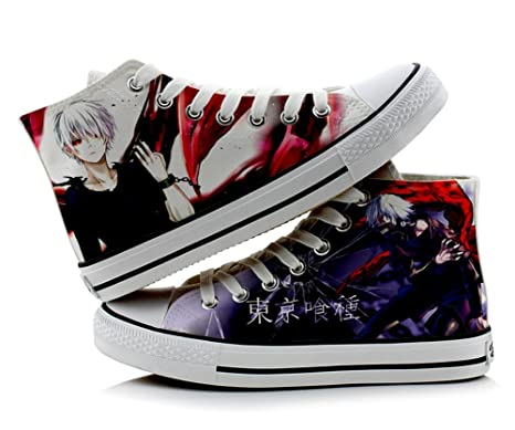 72b9ae30e94a0 Telacos Tokyo Ghoul Kaneki Ken Cosplay Shoes Canvas Shoes Sneakers  Colourful 3