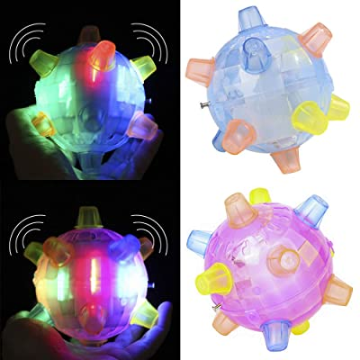 Taghua Electric Dancing Ball, LED Bouncing Vibrating Ball Toy, Jumping Joggle Bopper Flashing Ball Light Music Fun Toys for Kids Girls Boys (Random Color): Toys & Games