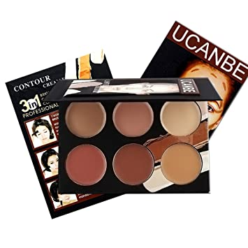 Amazon.com : Ucanbe Contour Kit Contouring Highlighting Makeup Foundation Concealer Cream Palette (edition 1) : Beauty