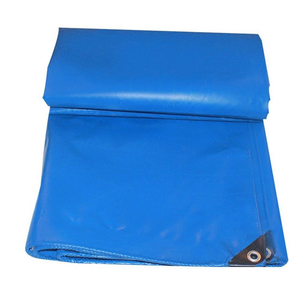 ZEMIN オーニング サンシェード ターポリン 防水 日焼け止め テント シート ルーフ 防風 カバー 滑らかな 保護 ポリエステル、 青、 450G/M²、 利用可能な9サイズ (色 : 青, サイズ さいず : 6X8M) B07D1NGSP7  青 6X8M