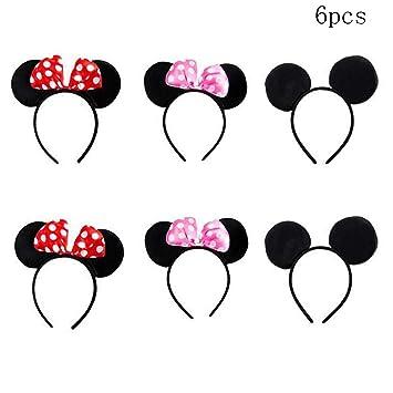 Amazon.com: TTBD - Juego de 6 orejas de Mickey Minnie Mouse ...