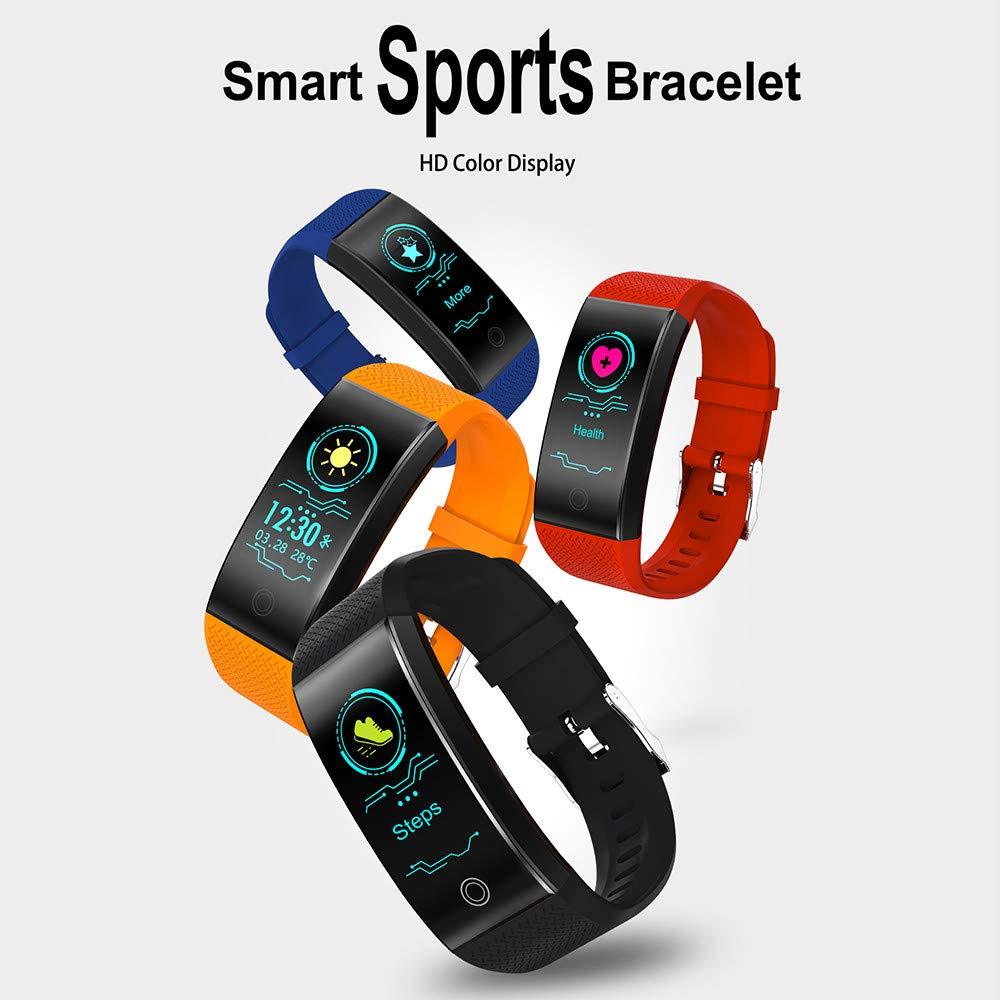 041fd502dcc3 JiaMeng Reloj de presión Arterial QW18 Smart Watch Sports Fitness Activity  Rastreador de frecuencia cardíaca(