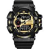 SL1436 Casual Fashion Watch Men S Shock Waterproof Swimming LED Sports Army Military Watches Men's Style Quartz Analog Digital Watch