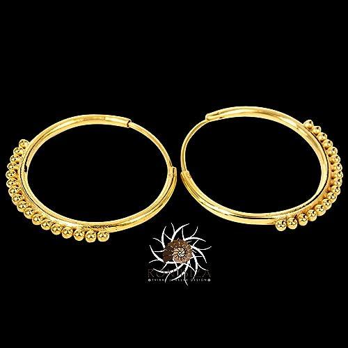 New Amazon.com: Gold Earrings - Gold hoops Earrings - Tribal Earrings  DK04
