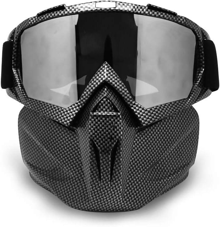 Máscara de Motocicleta Dirt Bike ATV Gafas de Sol Desmontables de con Casco