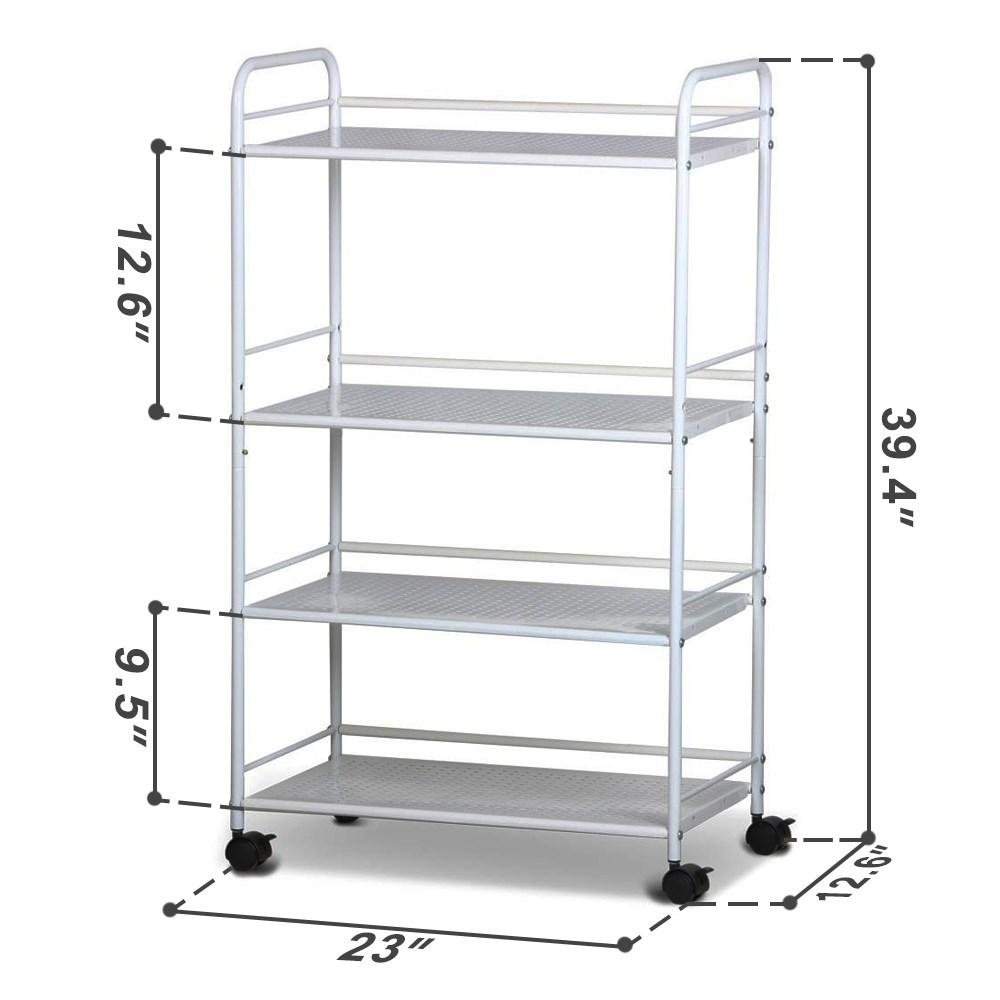 Topeakmart Rolling Trolley Cart Kitchen Storage Cart 4 Tier Facial Salon Spa Utility by Topeakmart (Image #2)