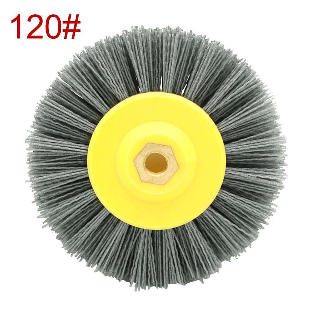 Sweet48 80//120//180//320 Grits Abrasive Nylon Wheel Brush Grinding Tool for Woodwork Polish Grinder