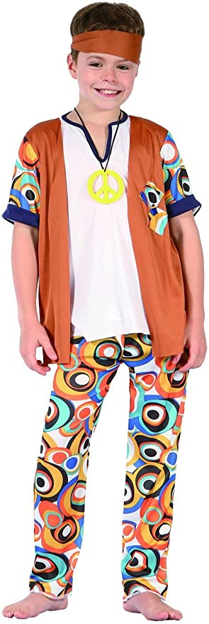 Disfraz hippie niño - 10-12 años: Amazon.es: Juguetes y juegos