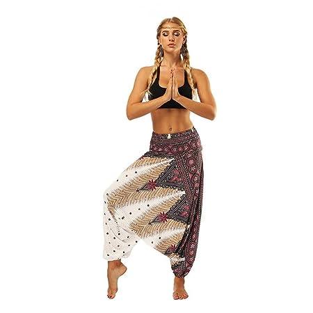 Apragaz Pantalones Casuales de Yoga para Mujer Pantalones de ...