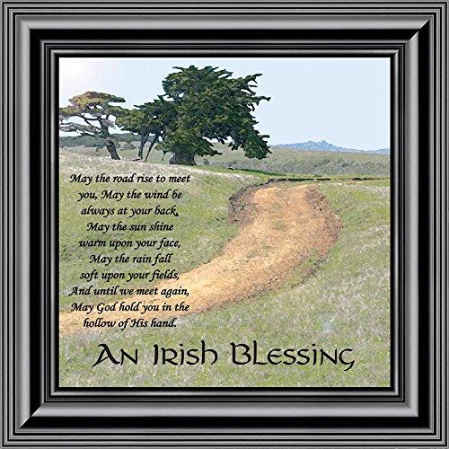 Sculpture Garden Small Iris - an Irish Blessing Picture Frame, an Irish Blessing, Irish Blessing Picture Frame, May The Road Rise to Meet You, 10x10 8586B (10x10, Black1)